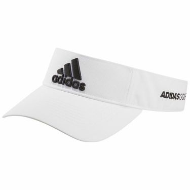 アディダス adidas メンズ 立体ロゴ刺繍 ツアー サンバイザー 22936 GL8904 ホワイト/ブラック 2021年モデル ホワイト/ブラック(GL8904)
