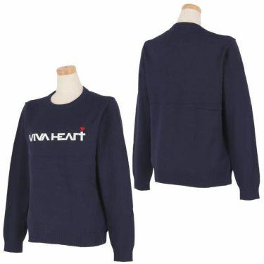 ビバハート VIVA HEART レディース ロゴ刺繍 長袖 クルーネック セーター 012-12211 2020年モデル 詳細3