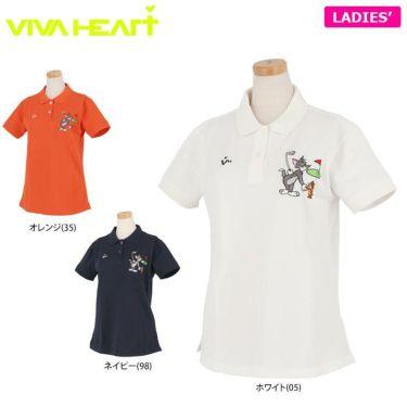ビバハート VIVA HEART レディース トムとジェリー コラボ 半袖 ポロシャツ 015-22440 2020年モデル 詳細1