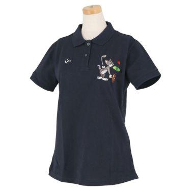 ビバハート VIVA HEART レディース トムとジェリー コラボ 半袖 ポロシャツ 015-22440 2020年モデル ネイビー(98)
