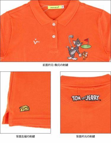 ビバハート VIVA HEART レディース トムとジェリー コラボ 半袖 ポロシャツ 015-22440 2020年モデル 詳細4