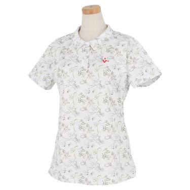 ビバハート VIVA HEART レディース トムとジェリー コラボ 総柄 半袖 ポロシャツ 015-22442 2020年モデル ホワイト(05)
