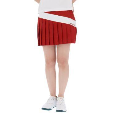 【ss特価】△ビバハート レディース インナーパンツ一体型 プリーツ スカート 012-72541 [2020年モデル] ゴルフウェア [春夏モデル 62%OFF] 特価 レッド(64)