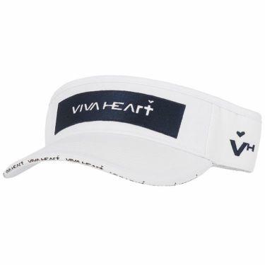 【ss特価】△ビバハート メンズ ロゴ刺繍 ツイル サンバイザー 013-52230 05 ホワイト [2020年モデル] ゴルフウェア [62%OFF] 特価 ホワイト(05)