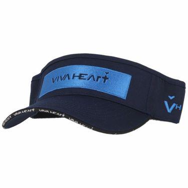 ビバハート VIVA HEART メンズ ロゴ刺繍 ツイル サンバイザー 013-52230 98 ネイビー 2020年モデル ネイビー(98)