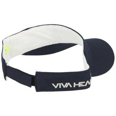 ビバハート VIVA HEART レディース クロスステッチロゴ ツイル サンバイザー 013-52260 98 ネイビー 2020年モデル 詳細1