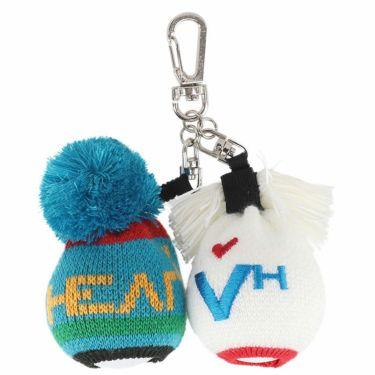ビバハート VIVA HEART レディース ポンポン付き ニット ボールポーチ 013-82265 95 ブルー 2020年モデル ブルー(95)