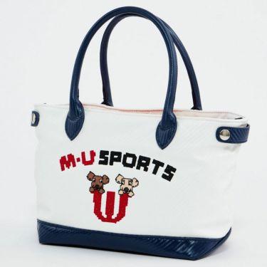 M・U SPORTS エム・ユー・スポーツ ユニセックス ラウンドポーチ 703D1060 002 アイボリー 2021年モデル アイボリー(002)