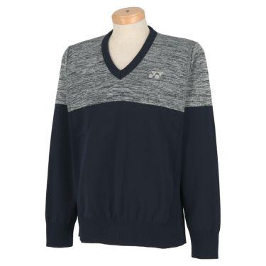 ヨネックス YONEX メンズ バイカラー 長袖 Vネック セーター GWS2050 2020年モデル ネイビーブルー(019)