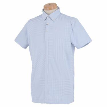 スリクソン SRIXON メンズ パッチワーク柄 半袖 ボタンダウン ポロシャツ RGMPJA13 2020年モデル サックス(SA00)