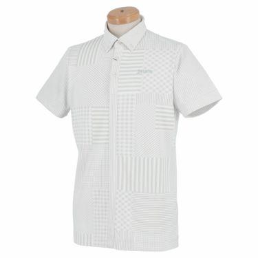 スリクソン SRIXON メンズ パッチワーク柄 半袖 ボタンダウン ポロシャツ RGMPJA13 2020年モデル ホワイト(WH00)