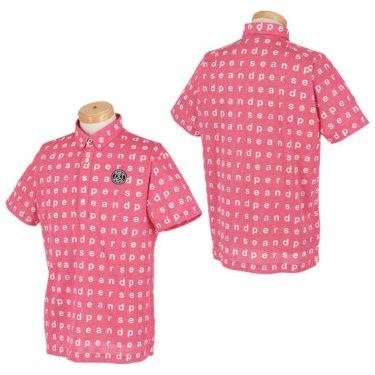 アンパスィ and per se メンズ 総柄プリント ハニカムメッシュ 半袖 ボタンダウン ポロシャツ AMS9611Y1 2021年モデル 詳細3