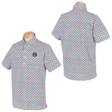 アンパスィ and per se メンズ 鹿の子 総柄プリント 半袖 ホリゾンタルカラー ポロシャツ AMS9611X2 2021年モデル 詳細3