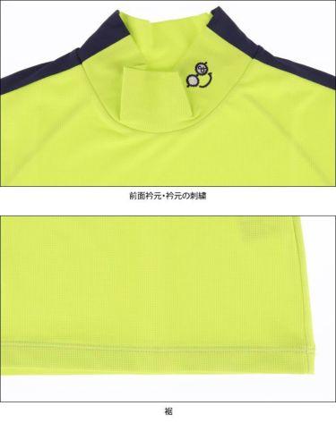 アンパスィ and per se レディース ロゴプリント 袖ライン 半袖 モックネックシャツ AFS9501V2 2021年モデル 詳細4