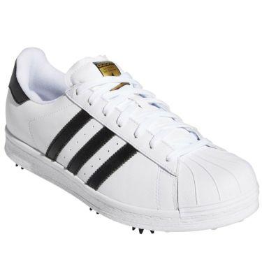 アディダス adidas オリジナルス SS 80S ゴルフ メンズ ゴルフシューズ LLA65 G57857 ホワイト/ブラック/ゴールド