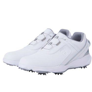 フットジョイ FootJoy ハイドロライト ボア メンズ ゴルフシューズ 50057 2021年モデル ホワイト/シルバー(50057)