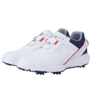 フットジョイ FootJoy ハイドロライト ボア メンズ ゴルフシューズ 50058 2021年モデル ホワイト/ネイビー(50058)