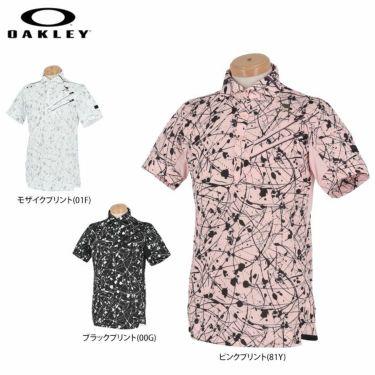 オークリー OAKLEY メンズ SKULL スプラッシュ柄 ポケット付き 半袖 ホリゾンタルカラー ポロシャツ FOA402481 2021年モデル 詳細1