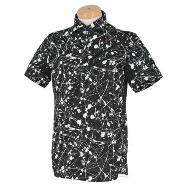 【ssプロパー】△オークリー メンズ SKULL スプラッシュ柄 ポケット付き 半袖 ホリゾンタルカラー ポロシャツ FOA402481 ゴルフウェア [2021年春夏モデル] ブラックプリント(00G)