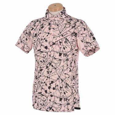 【ssプロパー】△オークリー メンズ SKULL スプラッシュ柄 ポケット付き 半袖 ホリゾンタルカラー ポロシャツ FOA402481 ゴルフウェア [2021年春夏モデル] ピンクプリント(81Y)
