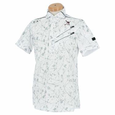 【ssプロパー】△オークリー メンズ SKULL スプラッシュ柄 ポケット付き 半袖 ホリゾンタルカラー ポロシャツ FOA402481 ゴルフウェア [2021年春夏モデル] モザイクプリント(01F)