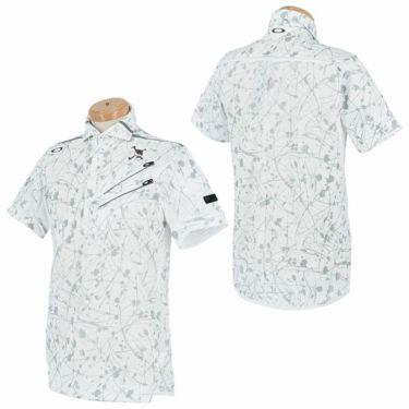 【ssプロパー】△オークリー メンズ SKULL スプラッシュ柄 ポケット付き 半袖 ホリゾンタルカラー ポロシャツ FOA402481 ゴルフウェア [2021年春夏モデル] 詳細3
