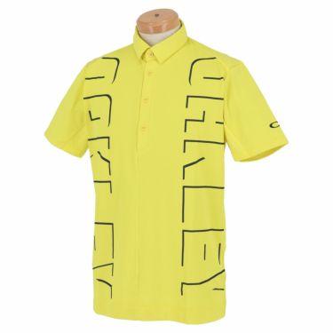 【ssプロパー】△オークリー メンズ ロゴグラフィック 生地切替 半袖 ポロシャツ FOA402497 ゴルフウェア [2021年春夏モデル] ヴィンテージイエロー(595)
