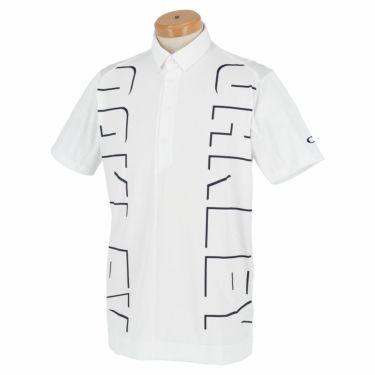 オークリー OAKLEY メンズ ロゴグラフィック 生地切替 半袖 ポロシャツ FOA402497 2021年モデル ホワイト(100)