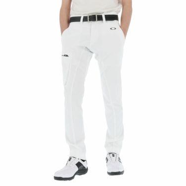 【ssプロパー】△オークリー メンズ SKULL ストレッチ テーパード ロングパンツ FOA402485 ゴルフウェア [2021年春夏モデル] [裾上げ対応1●] ホワイト(100)