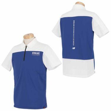 ニューバランスゴルフ メンズ SPORT メッシュ 生地切替 バイカラー 半袖 ハーフジップ ポロシャツ 012-1168012 2021年モデル 詳細3