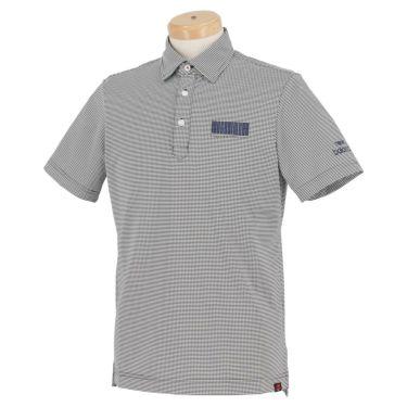 ニューバランスゴルフ メンズ METRO ボーダー柄 ストレッチ 半袖 ポロシャツ 012-1168013 2021年モデル ネイビー(120)