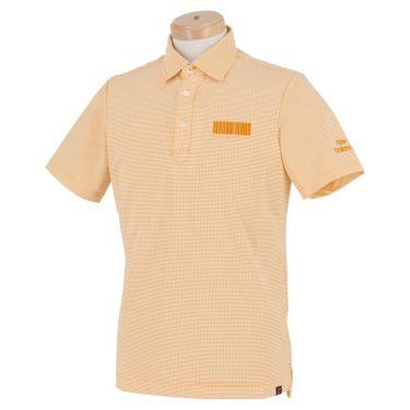 ニューバランスゴルフ メンズ METRO ボーダー柄 ストレッチ 半袖 ポロシャツ 012-1168013 2021年モデル オレンジ(151)