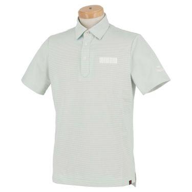 ニューバランスゴルフ メンズ METRO ボーダー柄 ストレッチ 半袖 ポロシャツ 012-1168013 2021年モデル ホワイト(030)