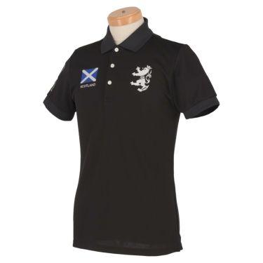 アドミラル Admiral メンズ フラッグ 刺繍 半袖 ポロシャツ ADMA016 ブラック(10)