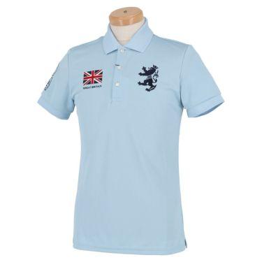 アドミラル Admiral メンズ フラッグ 刺繍 半袖 ポロシャツ ADMA016 サックス(39)