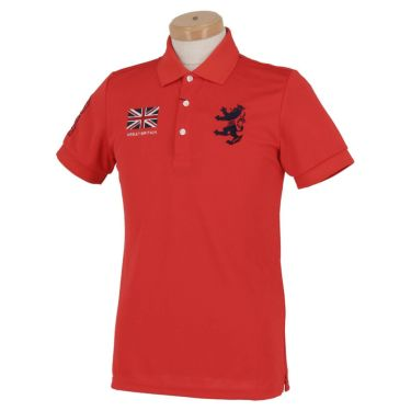 アドミラル Admiral メンズ フラッグ 刺繍 半袖 ポロシャツ ADMA016 レッド(41)