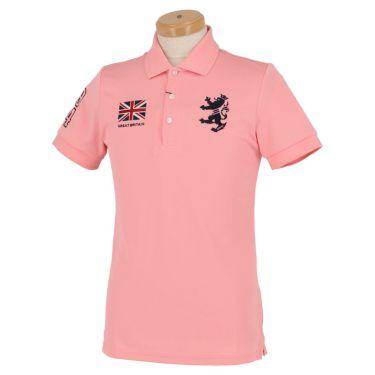 アドミラル Admiral メンズ フラッグ 刺繍 半袖 ポロシャツ ADMA016 ピンク(47)