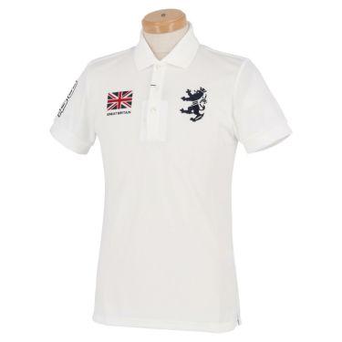アドミラル Admiral メンズ フラッグ 刺繍 半袖 ポロシャツ ADMA016 ホワイト(00)