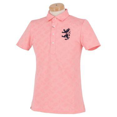 アドミラル Admiral メンズ ランパント刺繍 総柄 ジャガード 半袖 ポロシャツ ADMA132 2021年モデル ピンク(48)