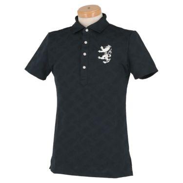 アドミラル Admiral メンズ ランパント刺繍 総柄 ジャガード 半袖 ポロシャツ ADMA132 2021年モデル ネイビー(30)