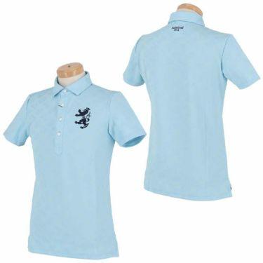 アドミラル Admiral メンズ ランパント刺繍 総柄 ジャガード 半袖 ポロシャツ ADMA132 2021年モデル 詳細3