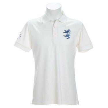 アドミラル Admiral メンズ ランパント刺繍 総柄 エンボスプリント 半袖 ポロシャツ ADMA147 2021年モデル ホワイト(00)