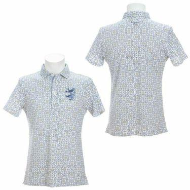 アドミラル Admiral メンズ ランパント刺繍 総柄 タイルプリント 半袖 ポロシャツ ADMA151 2021年モデル 詳細3
