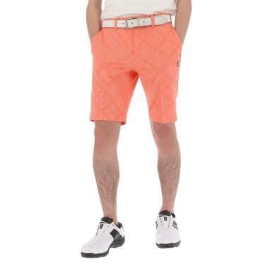 アドミラル Admiral メンズ ランパント刺繍 総柄 エンボスプリント ストレッチ ショートパンツ ADMA158 2021年モデル オレンジ(46)