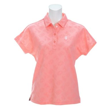 アドミラル Admiral レディース ランパント刺繍 総柄 ジャガード 半袖 ポロシャツ ADLA122 2021年モデル ピンク(48)