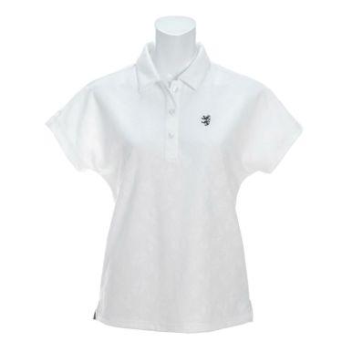 アドミラル Admiral レディース ランパント刺繍 総柄 ジャガード 半袖 ポロシャツ ADLA122 2021年モデル ホワイト(00)