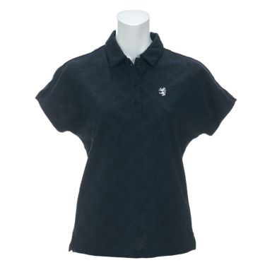 アドミラル Admiral レディース ランパント刺繍 総柄 ジャガード 半袖 ポロシャツ ADLA122 2021年モデル ネイビー(30)
