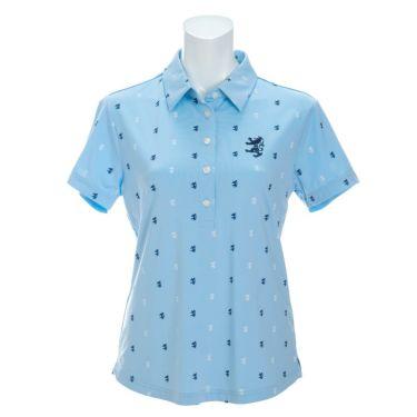 アドミラル Admiral レディース ランパント刺繍 飛び柄プリント 半袖 ポロシャツ ADLA132 2021年モデル サックス(39)