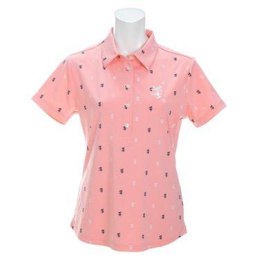 アドミラル Admiral レディース ランパント刺繍 飛び柄プリント 半袖 ポロシャツ ADLA132 2021年モデル ピンク(48)