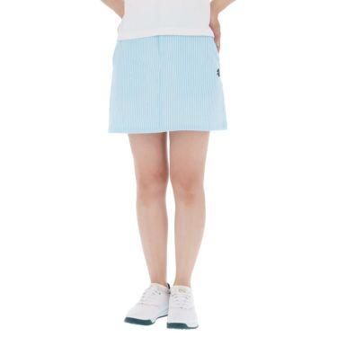 アドミラル Admiral レディース サッカーストライプ ストレッチ インナーパンツ付き スカート ADLA140 2021年モデル サックス(39)